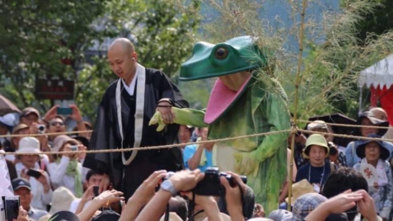 """Lễ hội Nhật Bản – """"Lễ hội Kaeru-tobi"""" vào ngày 7 tháng 7 ở Nara"""