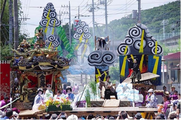 """Lễ hội Nhật Bản – """"Lễ hội Yamaage"""" vào cuối tháng 7 tại tỉnh Tochigi"""