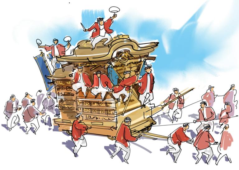 Kiến thức bên lề về lễ hội Nhật Bản – kiệu Mikoshi và xe Dashi