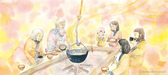 bữa cơm thường nhật của người Ainu