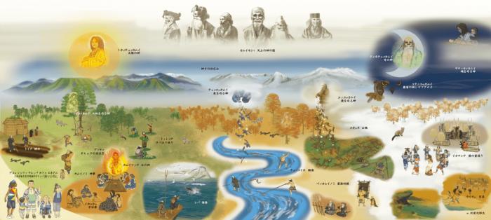 cuộc sống và tín ngưỡng vạn vật hữu linh của bộ tộc Ainu